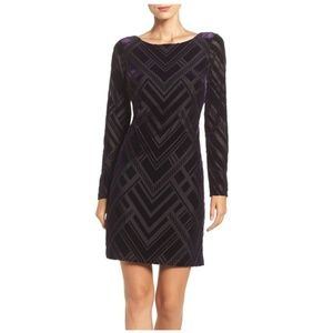 Vince Camuto Velvet Aubergine Cocktail Dress